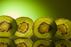 зеленый рядок кивиа Стоковое Изображение RF