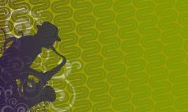 зеленый саксофон игрока иллюстрация вектора