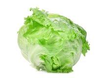 Зеленый салат айсберга изолированный на белизне Стоковые Фотографии RF