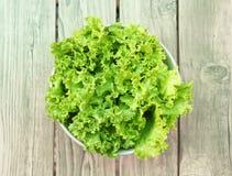Зеленый салат, здоровый зеленый салат Стоковые Изображения RF