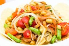 Зеленый салат папапайи для здоровья стоковые фото