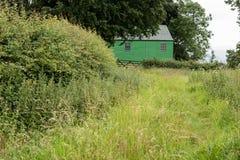 Зеленый сарай Стоковые Изображения RF