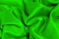 зеленый сатин стоковая фотография