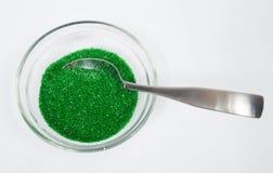 Зеленый сахар брызгает стоковая фотография rf