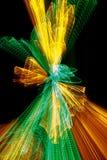зеленый свет взрыва - желтый цвет Стоковые Изображения RF