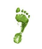 зеленый свет следа ноги Стоковое Фото