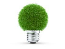 зеленый свет энергии принципиальной схемы шарика естественный Стоковое Изображение