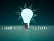 зеленый свет Стоковая Фотография