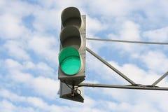 зеленый свет Стоковые Изображения