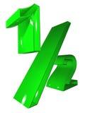 зеленый символ 012 3d Стоковые Фотографии RF