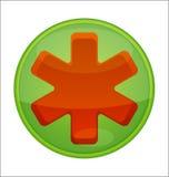 зеленый сотрудник военно-медицинской службы иконы Стоковые Изображения