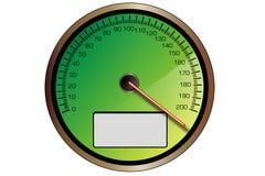 зеленый спидометр Стоковое Изображение RF