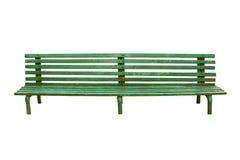 Зеленый старый стенд парка изолированный на белизне Стоковые Фото