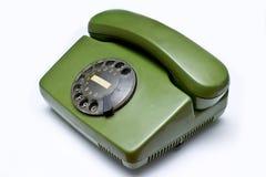 зеленый старый телефон Стоковые Фото
