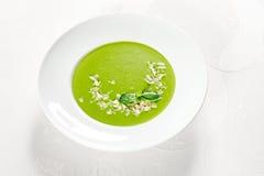 зеленый суп Стоковые Фотографии RF