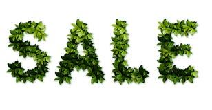 зеленый текст сбывания стоковые изображения