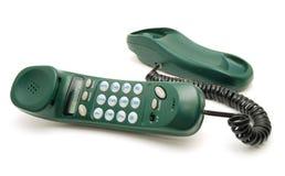 зеленый телефон Стоковое Фото