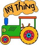 Зеленый трактор игрушки моя вещь бесплатная иллюстрация