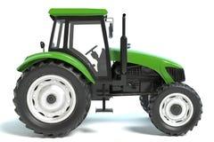 Зеленый трактор сельского хозяйства Стоковые Фото