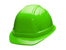 зеленый трудный шлем Стоковое Фото