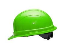 зеленый трудный шлем Стоковая Фотография