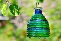Зеленый фонарик свечки с космосом экземпляра Стоковое Фото