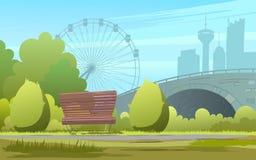 Зеленый фон парка города иллюстрация зеленого фона парка на предпосылке на городе Стоковые Фотографии RF