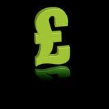 зеленый фунт иллюстрация штока