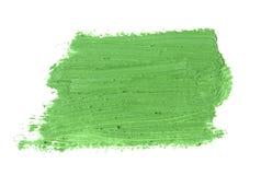 зеленый ход кисти изолированной на белизне Стоковая Фотография RF