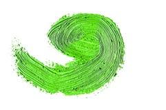 зеленый ход кисти изолированной на белизне Стоковое Изображение