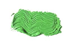 зеленый ход кисти изолированной на белизне Стоковые Изображения RF