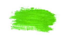 зеленый ход кисти изолированной на белизне Стоковые Изображения