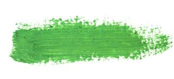 зеленый ход кисти изолированной на белизне Стоковое Фото