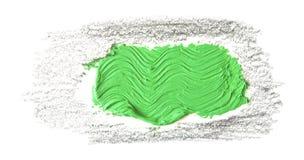 зеленый ход кисти изолированной на белизне Стоковое Изображение RF