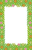 Зеленый цветок листьев рамки   Стоковое Фото