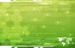 зеленый цвет абстрактного дела предпосылки гловальный Стоковые Фото