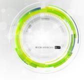 зеленый цвет абстрактного круга футуристический Стоковые Фотографии RF