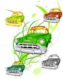 зеленый цвет автомобиля относящий к окружающей среде Стоковая Фотография