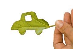 зеленый цвет автомобиля Стоковое Изображение