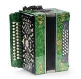 зеленый цвет аккордеони стоковое фото rf