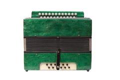 зеленый цвет аккордеони стоковые изображения rf