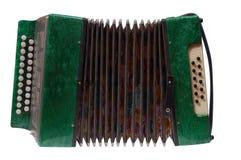 зеленый цвет аккордеони стоковые фото