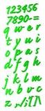 зеленый цвет алфавита Стоковые Фотографии RF