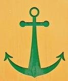 зеленый цвет анкера Стоковое Фото