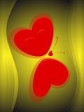 зеленый цвет бабочки предпосылки иллюстрация вектора