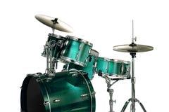зеленый цвет барабанчиков Стоковые Изображения