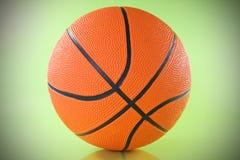 зеленый цвет баскетбола шарика предпосылки сверх Стоковые Изображения RF