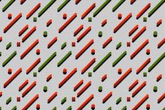 Зеленый цвет безшовной абстрактной картины текстуры хода красный Стоковые Фото