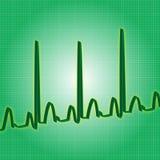 Зеленый цвет биения сердца Стоковое Фото