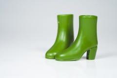 зеленый цвет ботинок Стоковая Фотография